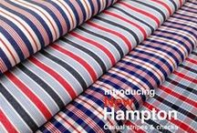 "60"" New Hampton Stripes & Checks / 100% cotton Hampton stripes & checks"