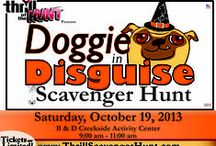 Doggie in Disguise Scavenger Hunt / Disguise your dog for a fun & interactive Scavenger Hunt.  Owners & dogs are encouraged to dress in costume for this family & pet friendly event!  Figure out the clues to collect dog treats & toys for your sidekick, all while exploring the area. #ThrillofHunt