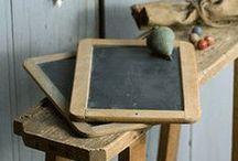 chalkboard / chalkboard, blackboard, school board, interior design, vintage, distressed, chippy paint
