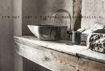 Bathroom-distressed chippy vintage industrial / vintage distressed bathroom ideas, interior design