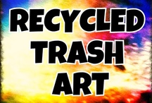 Recycled--TRASH ART / ART ONLY!!! -other repurposed items will be removed. All pins must be from Artists who use recycled, upcycled, and reclaimed trash to create works of Art.