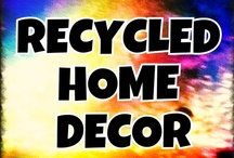 Recycled--HOME DECOR ART / Recycled, Repurposed, Reclaimed, or Upcycled home decor and accessories. ***Please pin no more than 5 items at a time.