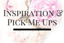 Inspirations and Pick Me Ups / A collection of our favorite quotes, inspirations and pick me ups all designed to make you smile :)