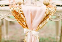 Soft Pink and Shiny Gold