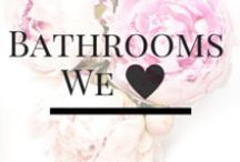 Bathroom Inspiration / We have a thing for bathrooms... Not just because that's where we stash all of our gorgeous green beauty treats, but because they are truly a sanctuary for your beauty rituals