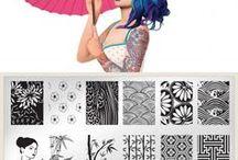 Nail art by plate - Suki 06