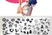 Nail art by plate - Suki 02
