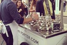 Mr Porter gelato at London Collections: Men / Link: http://goo.gl/yQOxup One of the highlights during London Collections: Men was the Mr Porter #icecream cart (made by us TekneItalia.com), which parked up outside Victoria House on the final day. What better way to refresh the crowds than with a complimentary cone of tasty gelato? I could not resist a double scoop of dark chocolate ice-cream. Neither could I resist capturing this unique moment of such formally dressed gentlemen delighting in a childhood dessert.