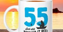 55th Birthday Gifts / 55th Birthday gift ideas. 55th presents for him or her, men and women. From 55th birthday mugs to t shirts, bags to key rings  and from aprons to beautiful laser etched gifts for the lucky 55 year old.