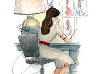 Inslee Haynes illustrations / Fashionsketches