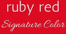 Your Signature Color: Ruby Red / Ruby Red is your Signature Color! Classy, confident, bold and friendly, red pairs well with all neutrals and lots of accept colors like turquoise and navy blue.