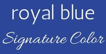 Your Signature Color :: Royal Blue / Ideas for adding royal blue to your wardrobe.