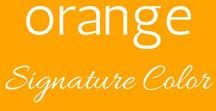 Your Signature Color :: Orange / Your signature color is orange! Orange is a neutral that pairs well with brown, navy, red and shades of yellow.