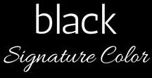 Your Signature Color :: Black / Your Signature Color is BLACK. Here are ideas for wearing it well. Outfits, wardrobe options, accentuating colors.