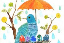 Geninne Z Bird illustrations