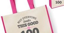 100th Birthday Gifts / 100th Birthday gift ideas. 100th presents for him or her, men and women. From 100th birthday mugs to t shirts, bags to key rings  and from aprons to beautiful laser etched gifts for the lucky 100 year old.