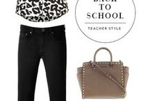 Moms:: Back to school style / Back to school style for teachers and moms! Outfits, wardrobe organization and style tips. Teacher style, mom style...really anyone!