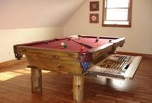Rustic Pool Tables / All brands, rustic tables for the western Montana appeal.