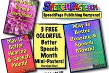 Free Speech Therapist Downloads From SpeechPage! / All of these items are offered as free PDF downloads From SpeechPage.com Publishing Co.!  Also Check Out their sturdy, FUN, and Useful Speech & Language Therapy Materials Available on their website for reasonable costs!