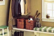 Entryway + Mudroom / Inspiration and ideas for the entry and mudroom. DIY, budget renovation, storage ideas, ways to add style and beauty. #organizing