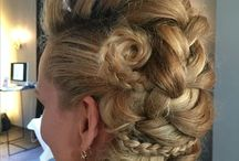 Bridal long hair half updo / Here's a selection of long hair bridal updo's: half-up, done bij www.hairvisit.nl