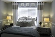 Small Master Bedroom / Ideas and inspiration for DIY redecorating a small master bedroom.
