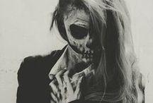 Skulldugery / #skull #skeleton #art #dayofthedead
