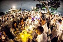 Diner en Blanc International / Photos of the worldwide posh picnic phenomenon: Le Dîner en Blanc -- Photos de l'élégant pique-nique devenu phénomène mondial: Le Dîner en Blanc www.dinerenblanc.com