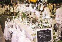 Art de la table... En Blanc! / Get creative and find THE detail that will make the difference for your next Diner en Blanc! Soyez créatifs et trouvez la touche qui fera toute la différence à votre prochain Diner en Blanc !