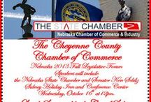 Our Chamber Events / The Cheyenne County Chamber has many events in the area and this board is a few of our promos for these activities.