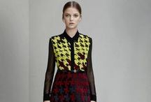 Pre Fall 2015 / Paisley, Check, Houndstooth. Mary Katrantzou's first Pre Fall 15 collection is a celebration of classic heritage textiles that have stood through time, forming motifs that we have adorned for decades. Injecting her signature play on perception and discovery, emblems are unearthed from her archive collections to rework and re-imagine the 19th century patterns with the use of her own heritage prints.