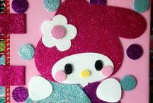 Happy easter hello kitty!!! / Libretas Hello kitty en fomi  $99 c/u