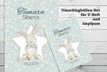 U-Heft Hüllen Papierdesign / Hüllen für das U-Heft und den Impfpass