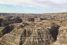 """Dinosaur Country / These images showcase how dinosaurs have been part of Drumheller's history for over 100 years. It's easy to see why we call this area """"Dinosaur Country."""""""