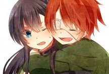 Lavi & Yuu / Lavi (Bookman JR)  & Kanda Yuu from D. Gray Man