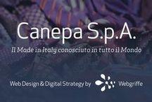 Webgriffe * Canepa S.p.A. / Il Made in Italy conosciuto in tutto il Mondo • Canepa è una azienda leader nel settore della produzione tessile di alta gamma, da tempo impegnata concretamente nell'innovazione di processo finalizzata ad una produzione eco-sostenibile.