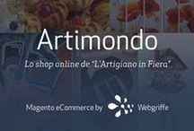 """Webgriffe * Artimondo / Lo shop online de """"L'Artigiano in Fiera"""" • Artimondo è un progetto digitale di Commercio Elettronico di Ge.Fi. SpA, che porta online """"L'Artigiano in Fiera"""", la più importante manifestazione internazionale dedicata all'artigianato."""