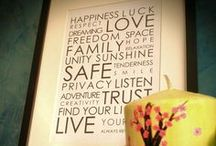 wall deco / frames, quotes, objects... and more!