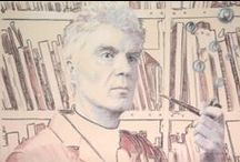 Byrne, Eno, St Vincent / I draw portraits.  And when no one is asking me to draw their cats, dogs, horses and grandparents, I draw celebrities like David Byrne, Brian Eno and Annie Clark (St Vincent)