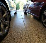 Garage Floors / Get your garage a shiny sleek look with Epoxy Floor Coatings and Polyurea Polyaspartic Coatings.