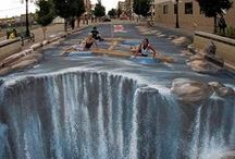 Optic Illusions - 3D Street Paintings / Unbelievable Facts !