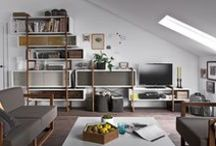Shelving & Storage Ideas / Creative storage solutions. Ideas for modern wall shelving units. From modern to traditional storage solutions. Created for limited urban spaces as well as large country residences.  Furniture available at http://funique.co.uk