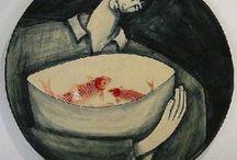 Vrouw&vis/Woman&fish / by Anita v.H/S
