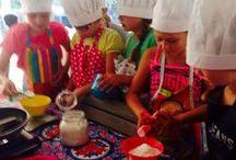 Bij Lies in de keuken / Koken met kinderen