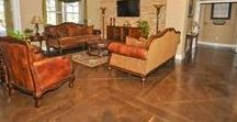 Stained Concrete For Your Home's Interior / Give your concrete a unique look with Sundek's staining solutions.