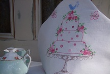 Tea Cosies / Handmade linen and embroidered Tea Cosy to add a touch of elegance to your High Tea.