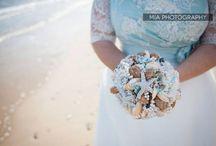 Garland beach wedding 2014 / Beach themed wedding