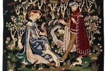 Medieval Tapestries / As wall decor, medieval tapestries are works of art that tells a story from the Middle Ages, as well as providing a focal point to a room which takes the viewer back in time to this era.