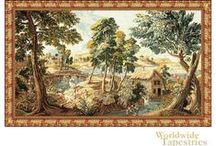 Landscape Tapestries / Here are some landscape tapestries of scenery, 17th century fantasy, and countrysides. See some great vistas and landscape art here.