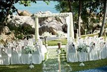 Terrace, Garden and Sala ceremonies ~ www.weddingsinthailand.com / The terrace and sala overlooking the beach are a perfect location for your wedding ceremony